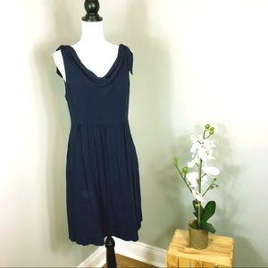 Anthropology Maeve Navy Blue Dress